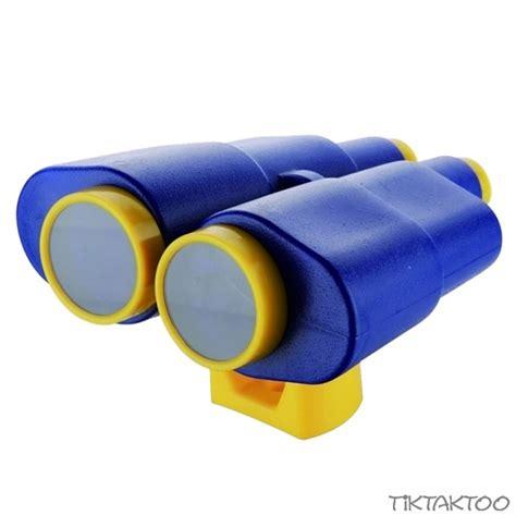 spielhaus mit rutsche 2060 fernglas fernrohr blau gelb tiktaktoo