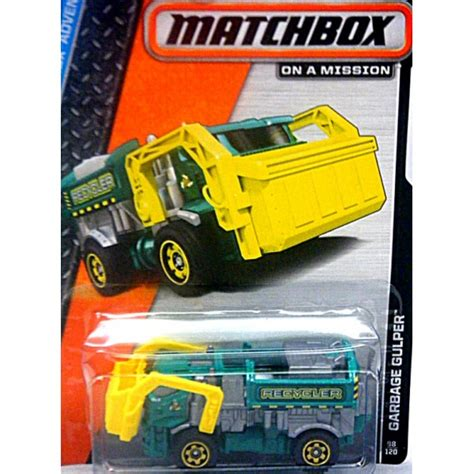 matchbox garbage gulper front load recycler global