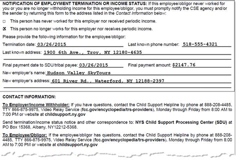 section 7 child support nys dcse report terminations
