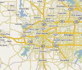 fort worth on map map of us state map