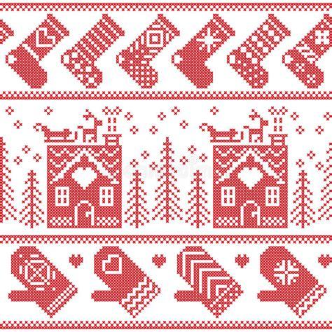 nordic christmas pattern vector scandinavian nordic christmas seamless pattern with ginger