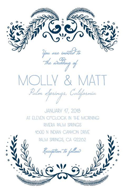 Print Wedding Invitations by Print Ornate Free Printable Wedding Invitation