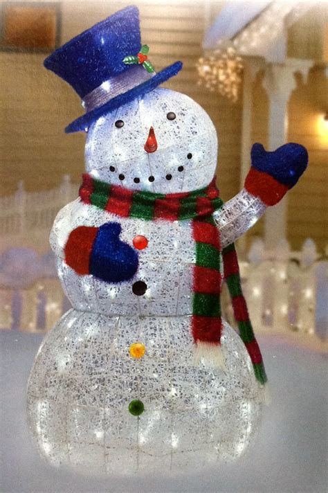 outdoor snowman decorations new 48 quot 150 led day light sugar thread snowman
