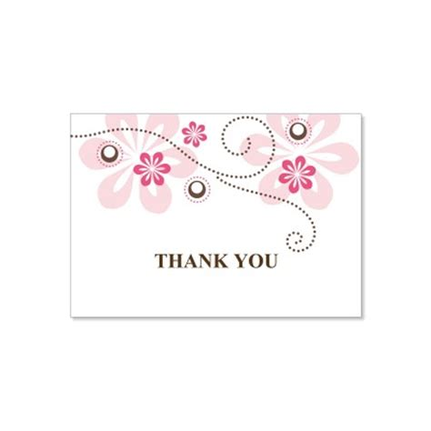 wedding thank you cards templates pink brown thank you card templates fuschia do