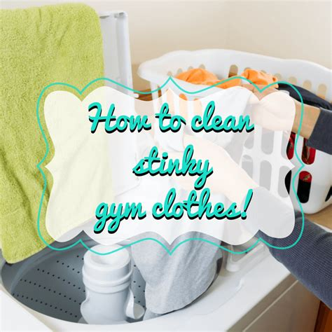 how to clean stinky workout clothes gym craft laundry