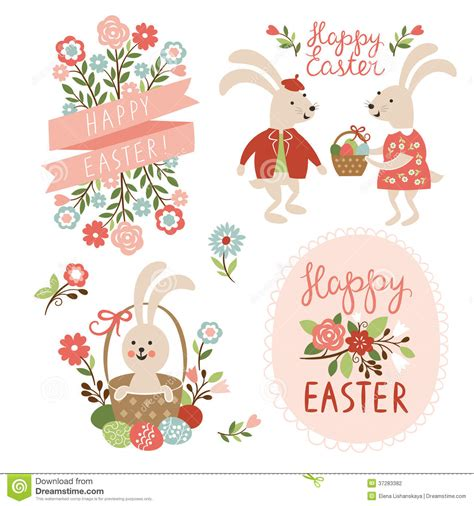 Easter Eggs Ideas by Happy Easter Cards Illustration Stock Vector