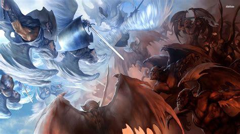 Angel and Demon Wallpaper   WallpaperSafari
