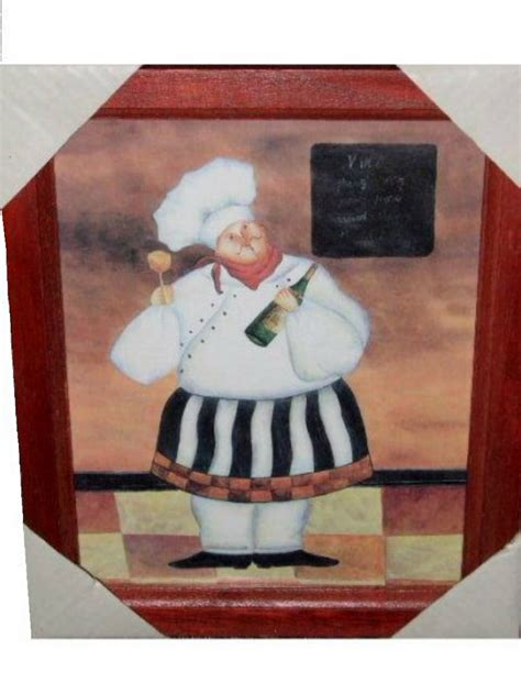 chef home decor fat french chef picture chefs wall decor