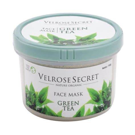 Velrose Secret Nature Organic jual nature organic velrose secret green tea masker wajah