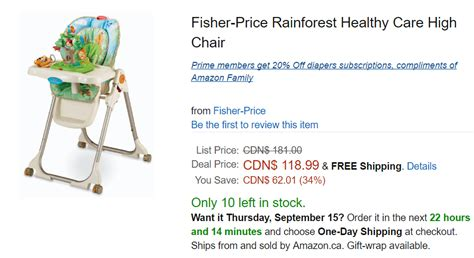 Rainforest Healthy Care High Chair Ca Offers Save 34 On Fisher Price Rainforest