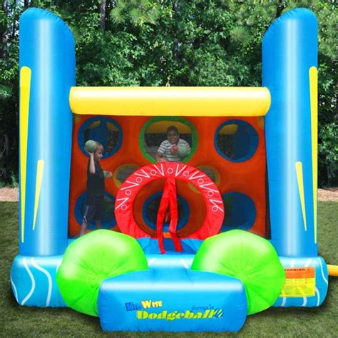 bounce house games kidwise jump n dodgeball sports game inflatable bounce house