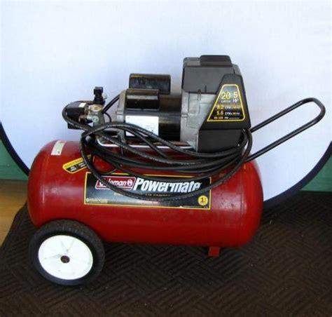 coleman powermate 20 gallon 5 hp direct drive air compressor ebay