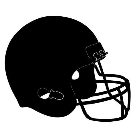 Football Helmet Outline Profile by Line Football Helmets Clipart Best