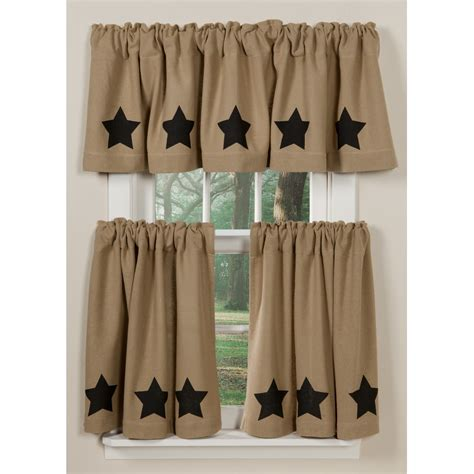 black star curtains burlap star curtains sturbridge yankee workshop