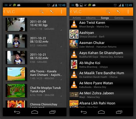 vlc player for android vlc media player comes to android 171 android appstorm