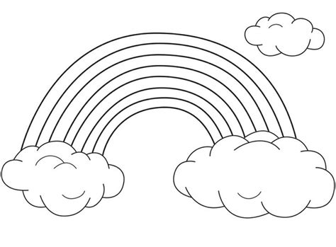 rainbow templates to colour rainbows free coloring pages