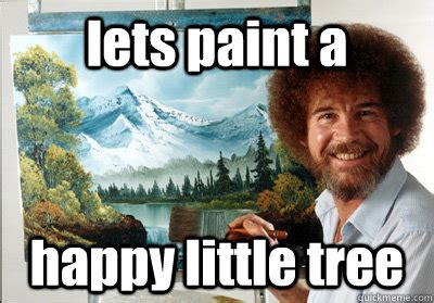 bob ross painting a happy tree accessibility of web components