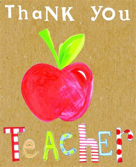 printable thank you cards for teachers thank you teacher card karenza paperie