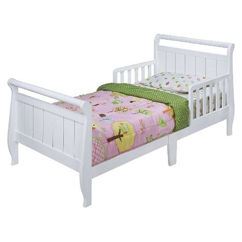 kids toddler bed sleigh toddler bed white delta children products target