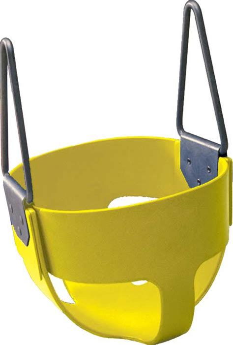 rubber swing seat rubber enclosed infant swing seat yellow pg037p