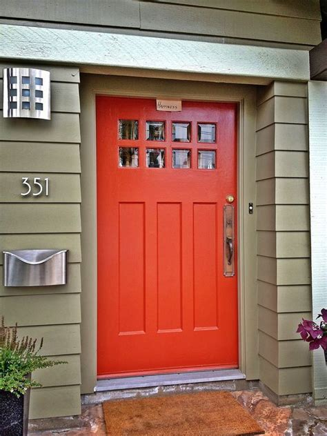 blue house orange door 17 best ideas about orange front doors on pinterest