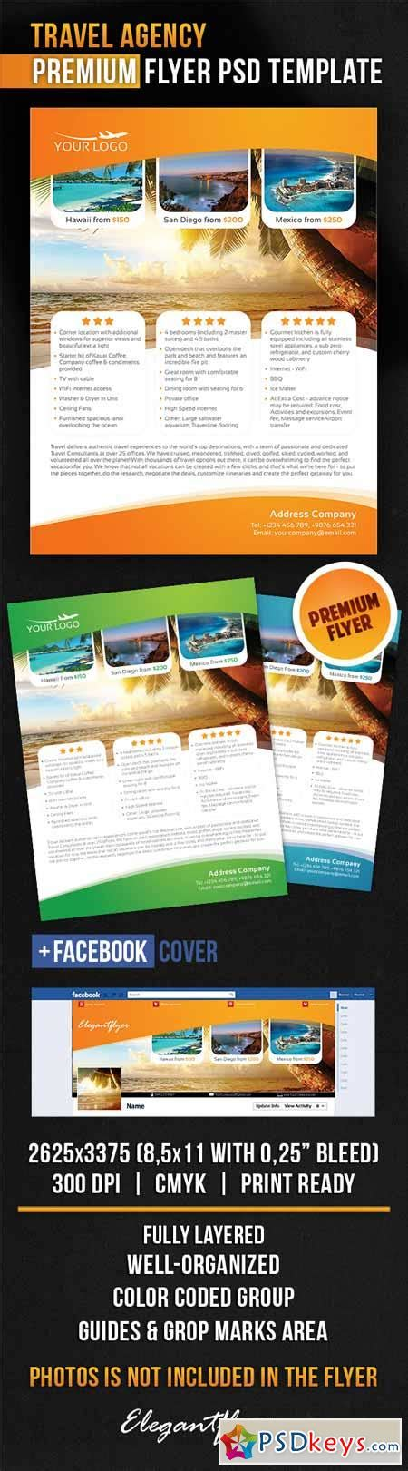 travel agency flyer psd template facebook cover 187 free