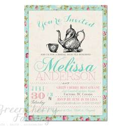 items similar to tea invitation typography high tea bridal shower invite birthday baby