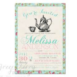 bridal shower tea invitation wording cimvitation