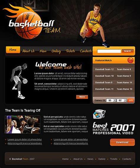 Basketball Teams Basketball And Templates On Pinterest Basketball Team Website Template
