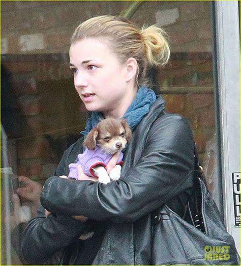 joseph and emily vanc emily vanc with a baby puppy stuff