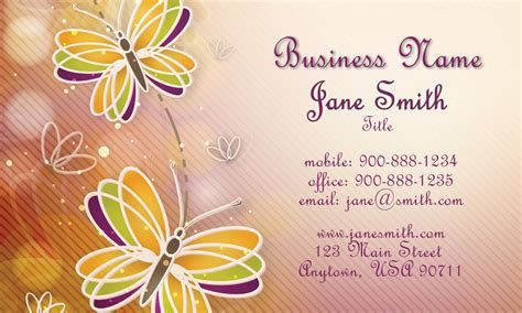 word business card butterfly templates free butterfly cheerful business card design 601301