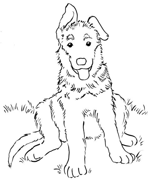 german shepherd coloring pages printable dog breeds picture