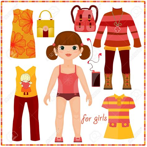How To Make Cut Out Paper Dolls - cut out doll template make your own paper dolls kiwi