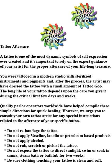 tattoo goo canada 100 tattoo goo tattoo care u2013 inspired by colour