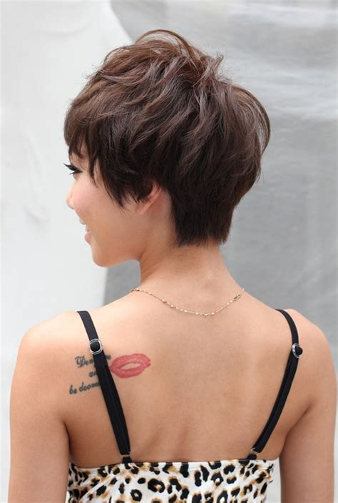 short hair back images back view of layered short haircut hairstyles weekly