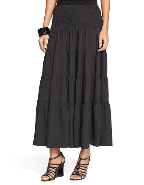 shirred skirt by ralph shirred ruffle skirt in black lyst