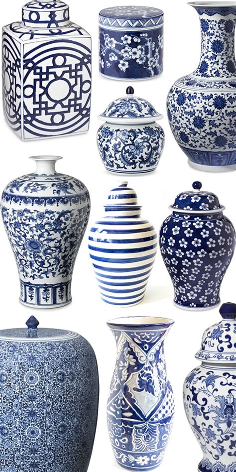 blue and white ginger jars ginger jars