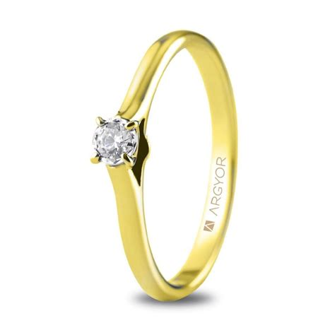 yellow gold engagement ring 18k with 74a0503 argyor