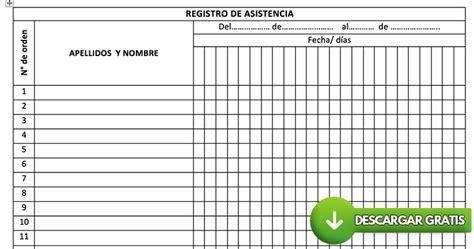 lista de asistencia formato en blanco formato de lista de asistencia lista de asistencia