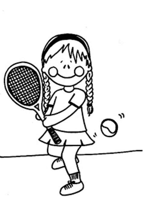 dibujos niños jugando tenis dibujos para imprimir y colorear dibujo para colorear de