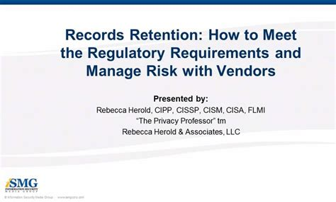 Records Retention How To Meet The Regulatory Requirements