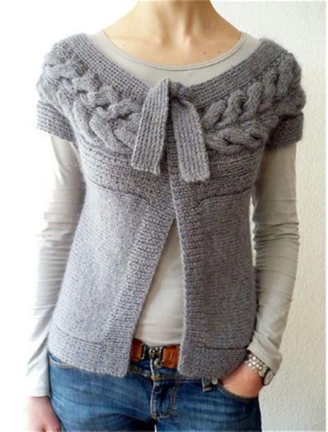 chalecos abiertos a dos agujas para mujer modelos de chalecos tejidos a dos agujas para mujer