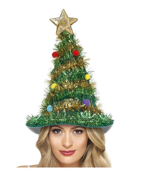 weihnachtsbaum hut mit lametta weihnachtliche