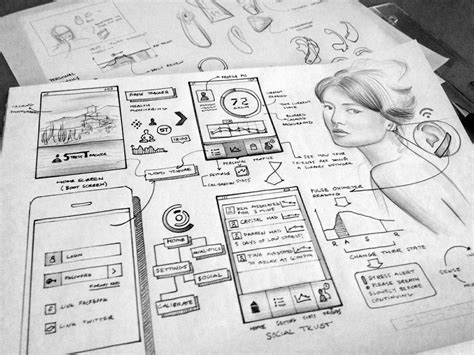 Sketches And Wireframes by Dribbble Initial Ideation2 Jpg By Lance Cassidy