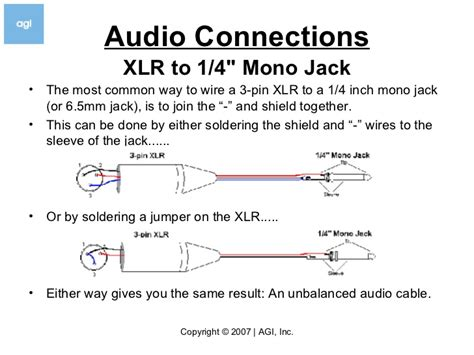 wiring diagram for xlr to 1 4 stereo wiring wirning