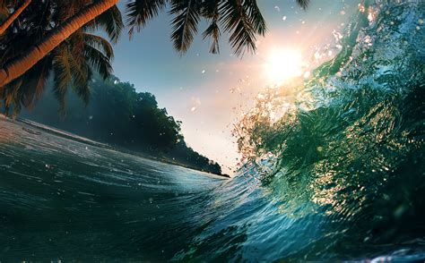 Wallpaper 4k Wave | wallpaper wave 5k 4k wallpaper 8k ocean palms sun