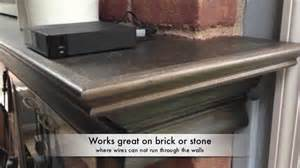 Hiding Wires In Fireplace Mantel by Wire Mantel Features
