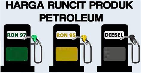 Minyak Naik Mac harga minyak terkini petrol 95 ron97 tahun 2019
