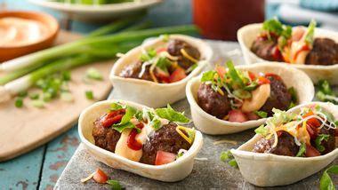 mini taco boats calories mini taco salad boats recipe from betty crocker