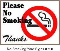 No smoking yard signs template 718